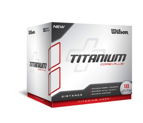 Titanium Straight Distance Golf Balls - Wilson Titanium Ball (18 Ball Pack)
