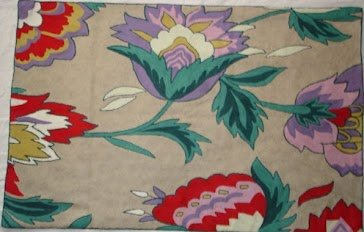 Crewel Rug Atherton modern Purple Cotton Duck(9X12FT)