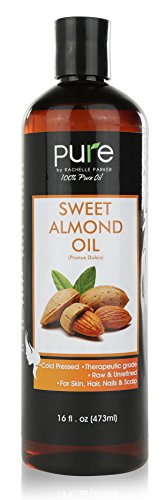 - Sweet Almond Oil Triple AAA+ Grade Quality Hexane Free For Hair For Skin and For Face - 100% Pure - Cold Pressed - 16 fl oz Pure by Rachelle Parker Sweet Almond Carrier Oil