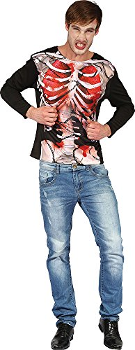 [Men's Halloween Fancy Dress Party Costume Skeleton Chained 3d Print Shirt Outfit] (3d Skeleton Zombie Costumes)