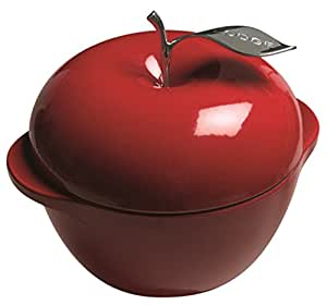 Lodge E3AP40 Enameled Cast Iron Apple Pot, 3.5-Quart, Patriot Red