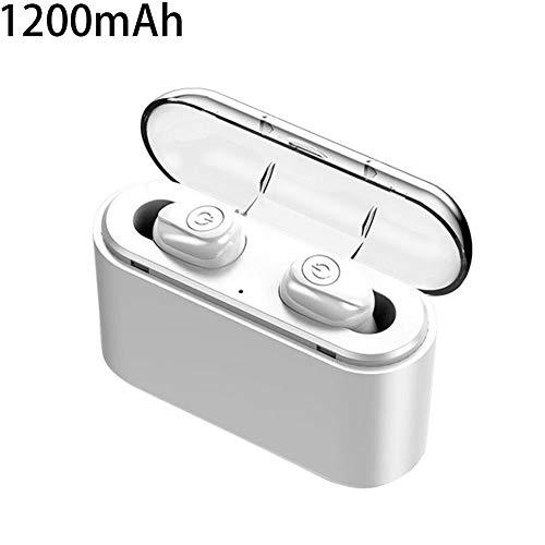 Wulidasheng TWS Wireless Earphones,X8S True Wireless Bluetooth Ear Buds Earphones with 1200mAh/2200mAh Charge Box White 2200mAh