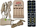 sunbeam battery charger - Battery Charger 3Hr For Aa/Aaa & 12V Car Plug & 8 Aaa 1100 Mah Acculoop-X Batteries (Low Discharge)