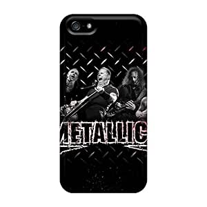 Perfect Hard Cell-phone Cases For Iphone 5/5s (mbb13813ExFt) Unique Design Attractive Metallica Band Skin