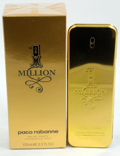 Paco Rabanne 1 Million Туалетная вода-спрей для мужчин, 3,4 жидкую унцию