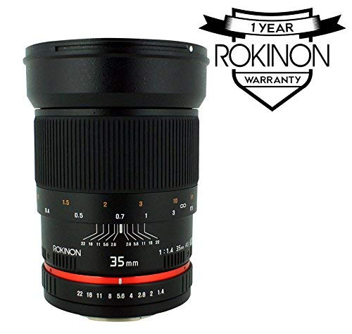 Rokinon RK35M-C 35mm f/1.4 Lens for Canon Cameras (Certified Refurbished)