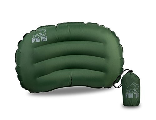 Ryno Tuff Ultralight Camping Pillow - Portable, Durable, and Inflatable Travel Pillow Provides Comfort and Insulation While Camping, Backpacking, Thru Hiking and Traveling. Carry Bag Included by Ryno Tuff