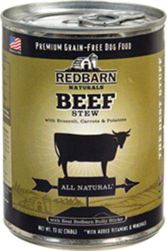 Redbarn Naturals Dog Food Beef Stew 13Oz 12 Pack