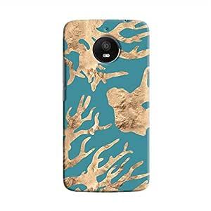 Cover It Up - Navy blue Nature Print Moto E4 Plus Hard case