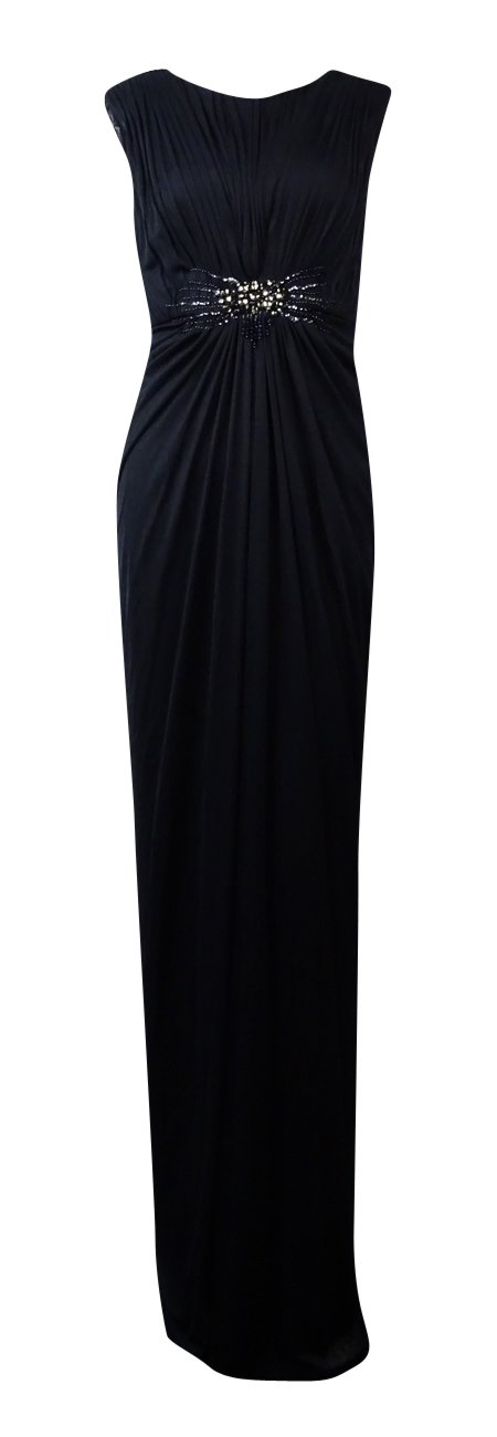 Adrianna Papell Embellished Shirred Jersey Gown 8