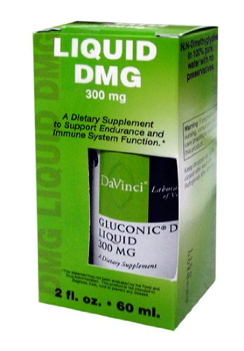 Davinci Laboratories - Gluconic DMG Liquid 300 MG, Supplement for Adrenal Fatigue, Focus and Immune System Health, 2 oz.