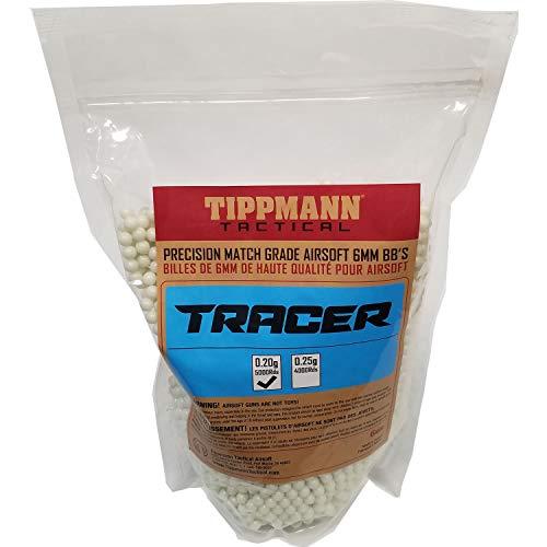 Tippmann Tracer Precision Match Grade 6mm Airsoft BB's Light Green (.20g / 5000 - Airsoft Bb Grade