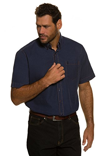 JP 1880 Homme Grandes tailles Chemise manches courtes bleu marine 5XL 705569 70-5XL