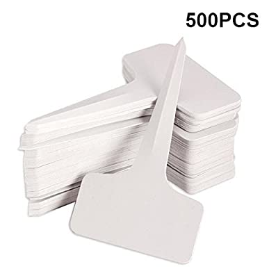 KINGLAKE 500 PCS 6 x10cm Plastic Waterproof Plant Nursery Garden Labels T-Type Tags Markers Plant Stakes Re-Usable Plant Tags (Box of 500): Garden & Outdoor