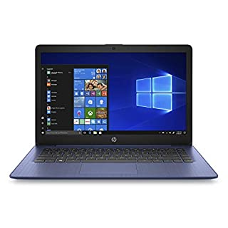HP Stream 14-inch Laptop, Intel Celeron N4000, 4 GB RAM, 64 GB eMMC, Windows 10 Home in S Mode with Office 365 Personal for 1 Year (14-cb185nr, Royal Blue) (Renewed)