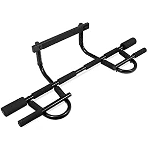 ProSource Multi-Grip Chin-Up/Pull-Up Bar, Heavy Duty Doorway Trainer for Home Gym
