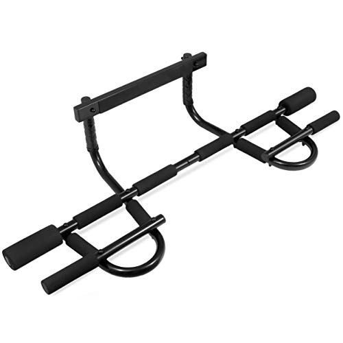 Prosource Fit Multi-Grip Chin-Up/Pull-Up Bar, Heavy Duty Doorway Trainer for Home Gym ()