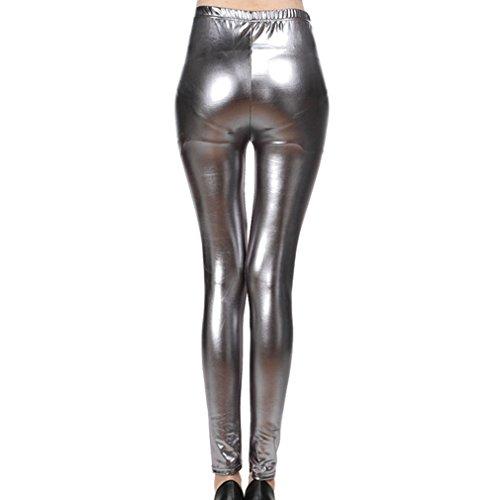 Leggings anni da equitazione da Pantaloni Gun Grey donna '80 discoteca lucidi da da Leggings equitazione Mxssi Pantaloni Pantaloni bagnati X8Sw75q5Zx