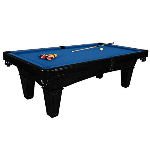 Harvil Toscana Onyx Slate Pool Table 8-Foot with Blue Felt. Includes On-Site Delivery, Installation and Accessories