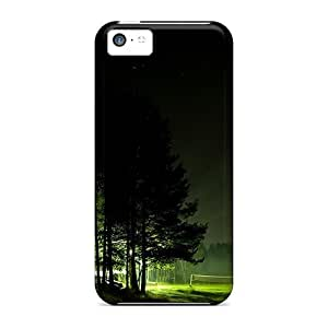 New Premium Flip Case Cover Night On A Summer Camp Skin Case For Iphone 5c