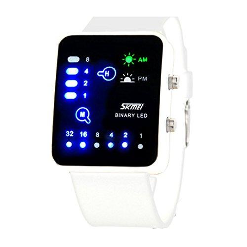 Technological Sense Binary Digital Led Waterproof Unisex Sports Wrist Watches  C