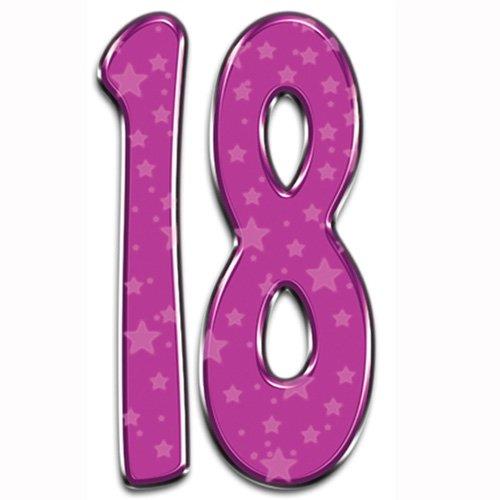 Partyrama Número 18 - Fiesta de cumpleaños de cartón/Juego ...