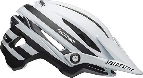 Bell Sixer MIPS Adult MTB Bike Helmet (Fasthouse Stripes Matte White/Black (2019), Large) (Matte Stripe)