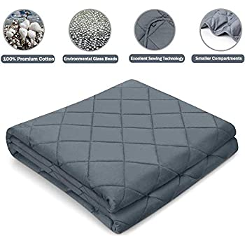 Image of AsFrost Weighted Blanket 2.0 for Adult and Kids, 100% Breathable Cotton with Premium Glass Beads AsFrost B07KSRFXCN Weighted Blankets