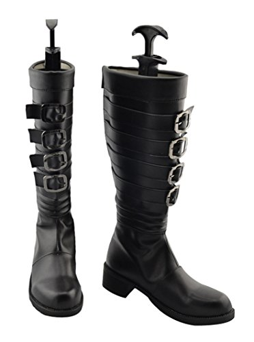 Zunpeng Alice Cosplay Boots Black Shoes Halloween Costume Accessories (7 US Female, (Halloween Accessories Boots)