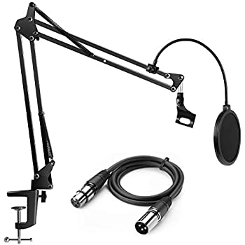 Amazon Com Luling Arts Desktop Microphone Stand With Metal Base