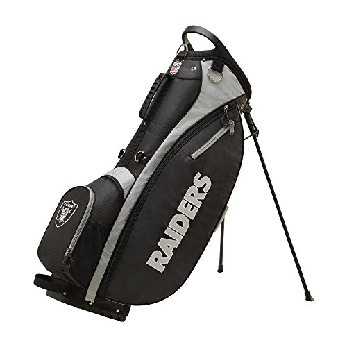 Wilson 2018 NFL Carry Golf Bag, Oakland Raiders (Oakland Bag Raiders Cart Golf)