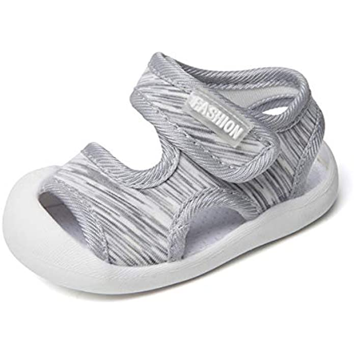 Boys Girls Athletic Sports Sandals Open-Toe Breathable Rubber Sole Beach Water Shoes for Toddler