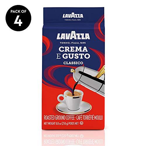 Cheap Lavazza Crema e Gusto Ground Coffee Blend, Espresso Dark Roast, 8.8 Oz Bags (Pack of 4). lavazza coffee