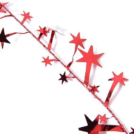 Silver LOVIVER 23 Feet Glittering Star Shaped Tinsel Wire Garland Christmas Xmas Tree Decor 19.5 Feet