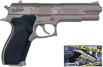 Gonher-Pistola Policía con 8 Disparos, sin Talla (45)