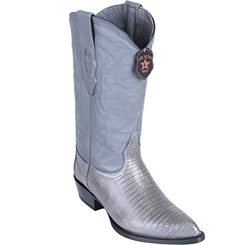 - Genuine LIZARD TEJU GREY J-TOE Los Altos Men's Western Cowboy Boot 990709