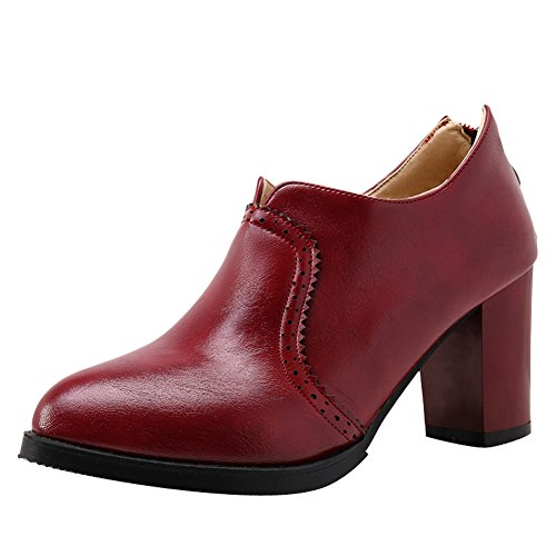 Latasa Damesschoen Met Hiel Enkellaars Laarzen Claret-rood