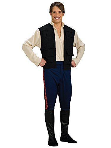 (Star Wars Deluxe Hans Solo Costume, Black/Blue,)