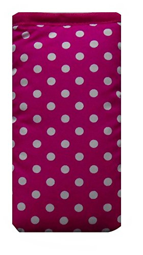 Cute Pink and White Polka Dot Print Apple iPhone 6s Plus sock / Case / Cover / Pouch