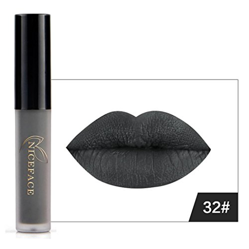 Nail Kit Polish And Lipstick Black (CSSD Halloween Style Lip Lingerie Matte Liquid Lipstick Waterproof Lip Gloss Makeup (32#,)