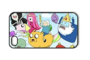 Adventure Time Chibi Iphone 4/4S Black Sides Hard Shell PC Case by eeMuse