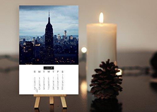 2016 Desk Calendar - New York, New York - Manhattan Art, NYC Art, Stocking Stuffer Mini - Print Calendar Nyc