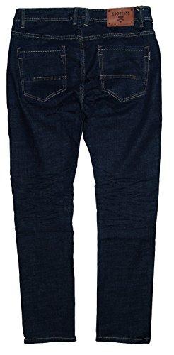Stonewashed Dunkelblau hombre para amp; EDO Jeans Fashion recto Vaquero X8xPqwZ0q
