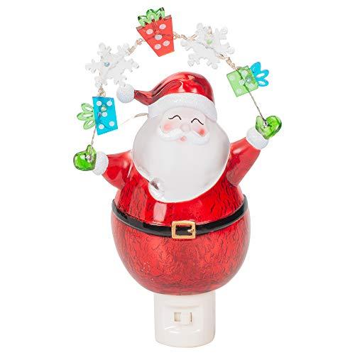(Night Light Santa and Garland 7.75