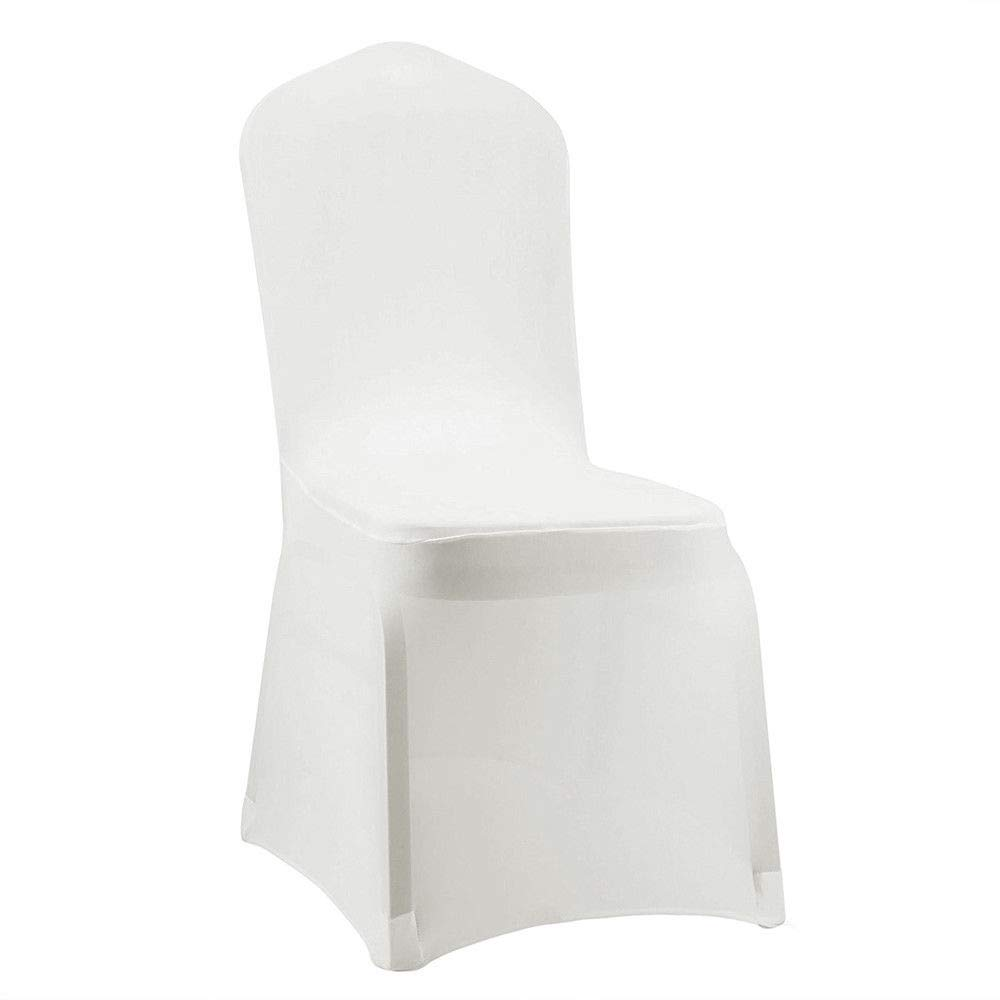 SRIVILIZE888 椅子カバー50点セット スパンデックス ダイニングシート 折りたたみ ストレッチ 宴会カバー スリップカバー 結婚披露宴 セミナーパーティー 装飾 整理/ホワイト/50枚セット   B07Q6VM69B