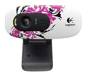 Logitech C270 720p Widescreen Video Call and Recording HD Webcam - 960-000819 (Floral Spiral)