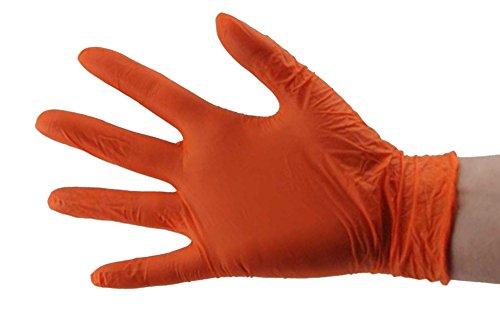 SKINTX CARE ON ON50010-M-BX Orange Nitrile Exam Gloves, Powder-Free, 6 mil, Palm Textured, Latex-Free, Non Sterile, Ambidextrous, Medium, Orange (Pack of 100)