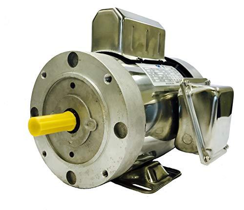SMC YCN5654BX 1 HP Stainless Steel Boat Lift Motor, 1725RPM, 1.15 Service Factor, 56C Frame, TEFC, 115/230V, SST Boat Hoist Motor ()