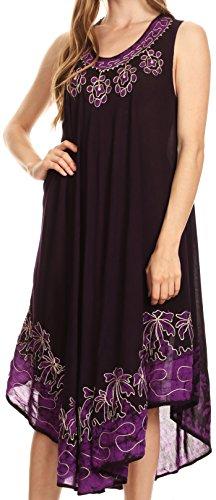 Sakkas 40SE Sundari Caftan Tank Dress/Cover Up - Eggplant - One ()