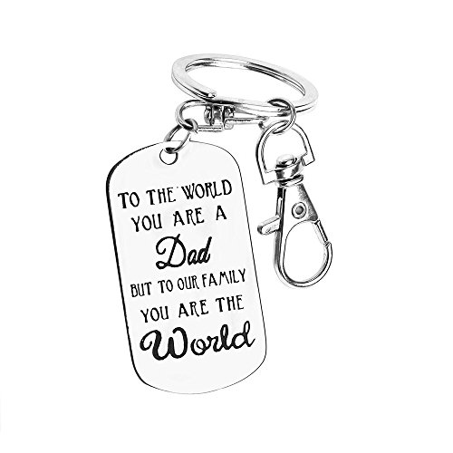Unique Fathers Day Gifts Mens Keychain Novelty Birthday Gift,Thick Stainless Steel Keychain,Corrosion Process Let love Never Fade